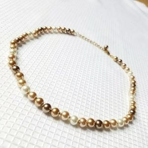 Jewelry - Copper Cream Ivory Shell South Sea Pearls Necklace
